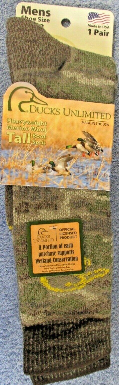 1 Pair Ducks Unlimited Camo Tall Boot Socks