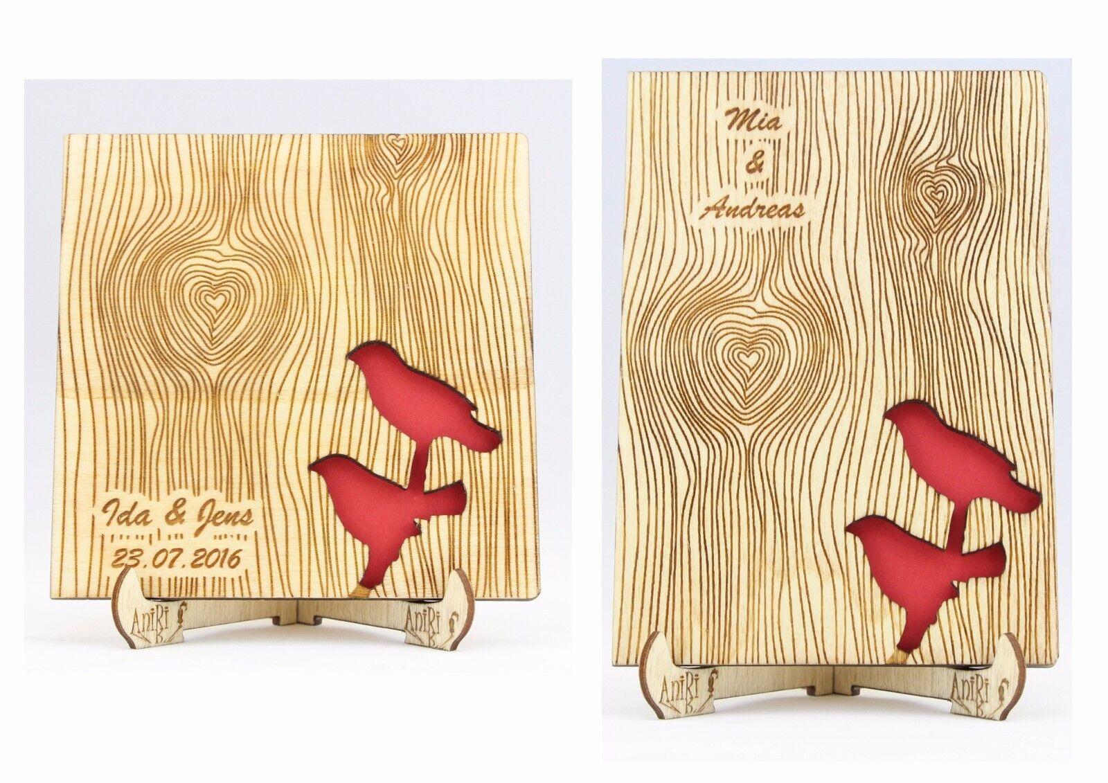 Personalisiert Gästebuch, Hochzeit, Holzgästebuch, Wedding, Vögel, Holz, Gäste   Good Design    Erste Kunden Eine Vollständige Palette Von Spezifikationen    Stabile Qualität