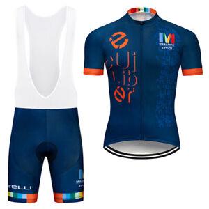 2020-Men-039-s-Pro-Cycling-Jersey-Bib-Shorts-Kits-Short-Sleeve-Shirt-Pad-shorts-Set