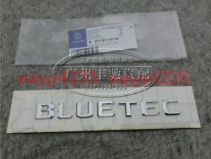Trunk Emblem Badge For All Mercedes Benz Diesel Models Flat Chrome BLUETEC