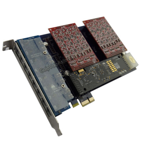 For asterisk voip pbx AEX800 8 FXO card with hardware echo cancellation