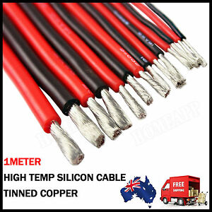 Soft-flexible-silicon-wire-high-temperature-1M-black-1M-red-for-RC-toy-Car-Boat