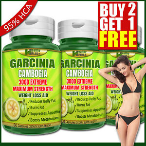 GARCINIA-CAMBOGIA-95-HCA-Capsules-Burn-Belly-Fat-Weight-Loss-Slim-Less-Appetite