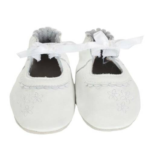 NIB ROBEEZ Shoes Special Occasion White Baptismal 0-6-12-18m 1 2 3 4 5 6