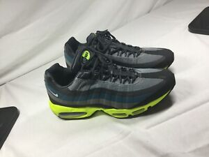 timeless design bb7dc 66157 Details about NIKE AIR MAX 95 NO SEW MENS RUNNING SHOES - MENS SIZE 11 1/2  11.5 Neon Green