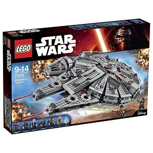 Lego STAR CLONE WARS 75105 Millenium Falcon TM Chewbacca Rey Finn Han Solo Nuevo