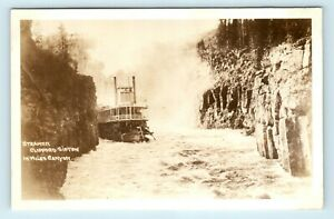 Whitehorse-YT-CANADA-CLIFFORD-SIFTON-STEAMSHIP-IN-MILES-CANYON-RPPC