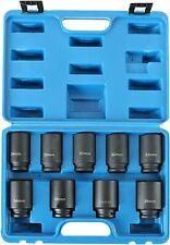9pcs Deep Impact Socket Set 12 Drive Metric Axle Hub Nut Socket 29 38mm