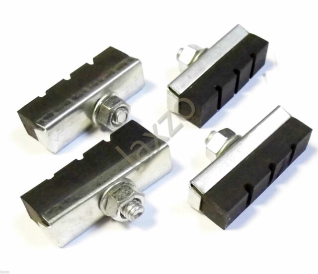 Bicycle Classic Rubber Brake Blocks Black 4 Pcs For Bike Cycle Bicycle Cycling