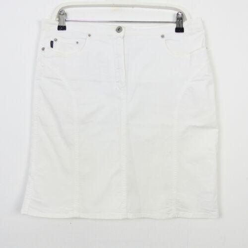MARC CAIN Rock Skirt Damen Weiß Gr N4 40
