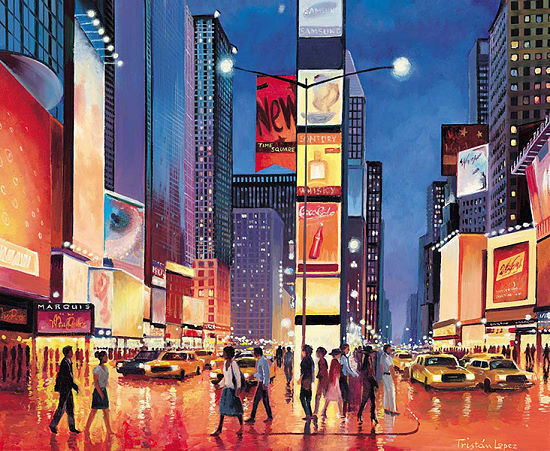Tristan LOPEZ   New York Skyline Tableau prêt 50x70 Tableau mural