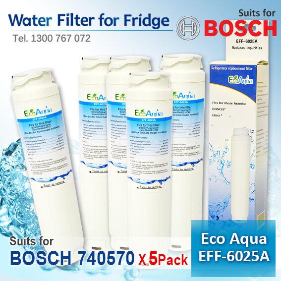 5X GENERIC FRIDGE WATER FILTER FOR BOSCH 740570 9000077095 9000077096