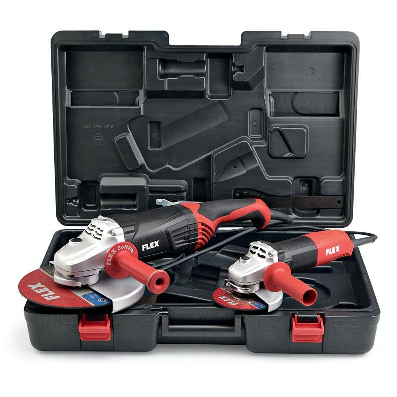 Flex Winkelschleifer Set L2100 230mm + L1001 125mm im Koffer 438405