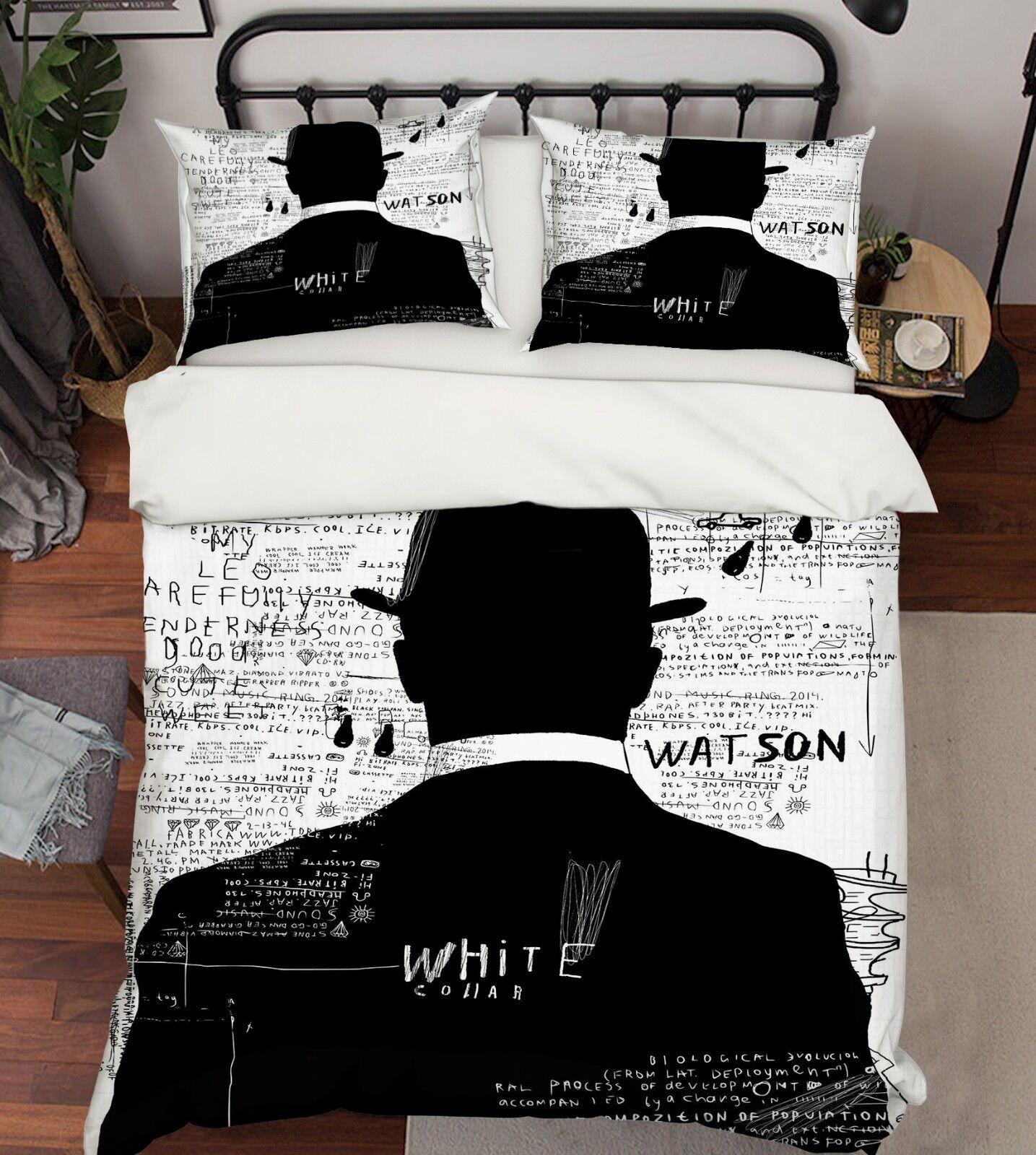 3D Gentleman Paint 79 Bed Pillowcases Quilt Duvet Cover Set Single Queen King CA