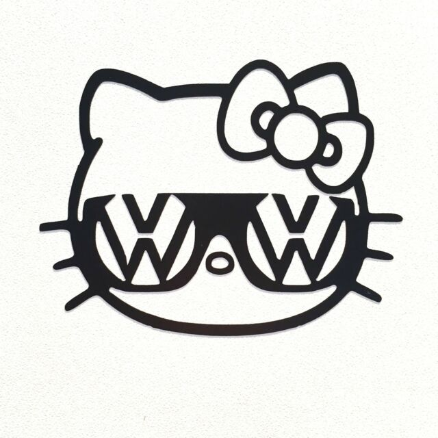 Hello Kitty Vw Sunglasses Head Vinyl Decal Sticker Ebay