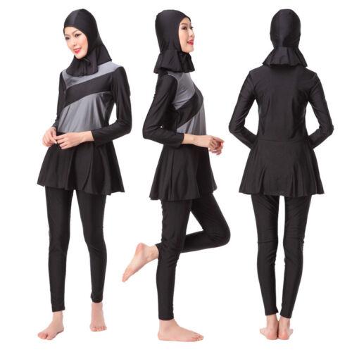 Modesty Arab Women Beach Swim Swimsuit Muslim Summer Burkini Bath Maxi Swimwear