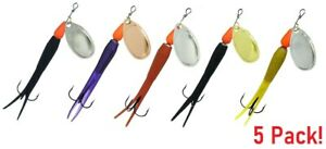 Dennett-Flying-C-5-PACK-Salmon-Trout-Spinning-Fishing-Lures-Assorted-Colours