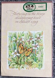 Apology Sorry Greeting Card butterfly flowers - <span itemprop=availableAtOrFrom>Choppington, United Kingdom</span> - Apology Sorry Greeting Card butterfly flowers - Choppington, United Kingdom