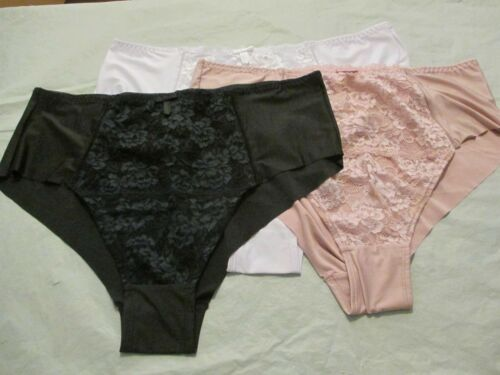 Ladies 3 Pack of super soft front laced Midi briefs  size 10//12