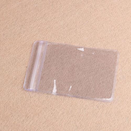 100 x löschen PVC Plastikmünzen Taschen Kasten Geldbörsen Speicher Umschläge ZP