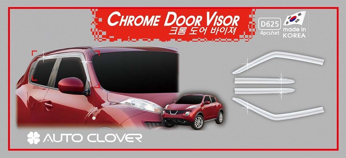 Chrome Weather Shields Window Visor WEATHERSHIELDS for Nissan Juke ... ef77a858f59