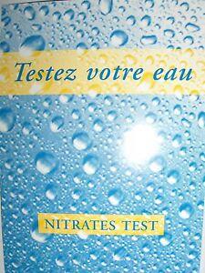 10 X Bandelette Tige De Test De Nitrate Dans L'eau