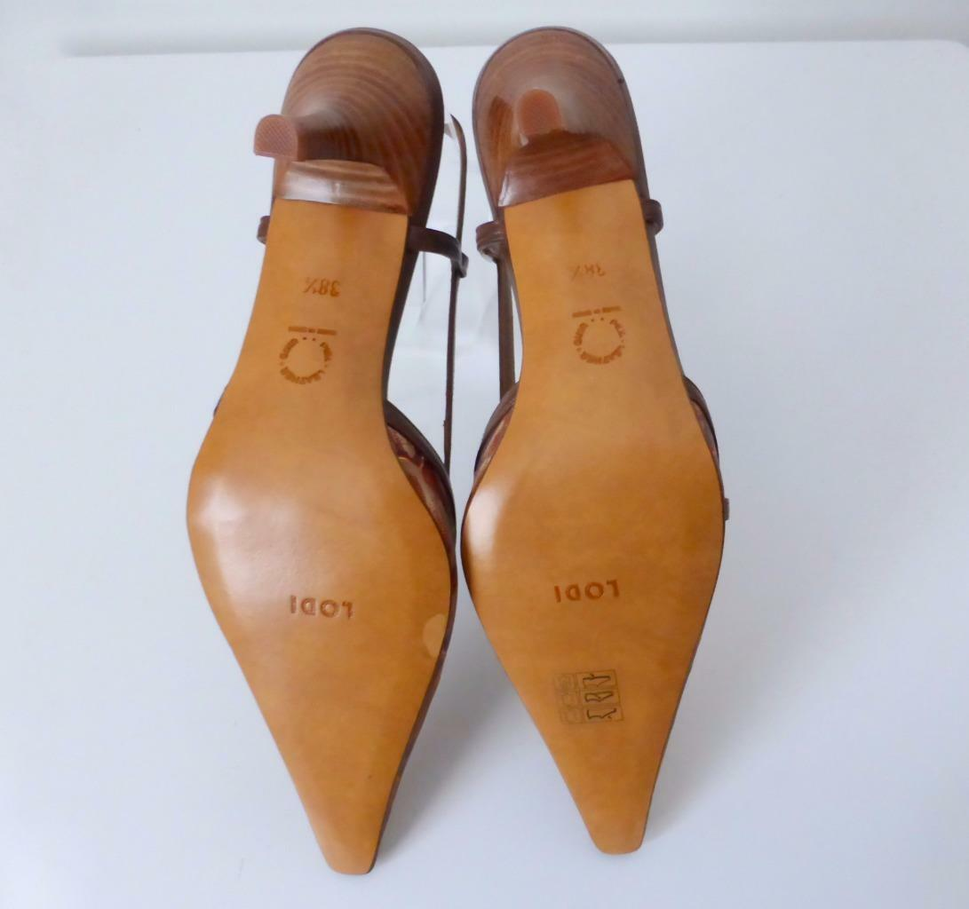 LODI  Leder 38.5 Slingback Schuhes Made in Spain Größe 38.5 Leder rrp 334 42f8c6
