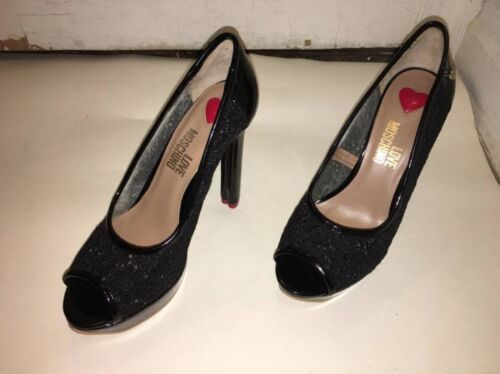 Moschino Femme Femme Black Lace Chaussures Chaussures TJcF3lK1