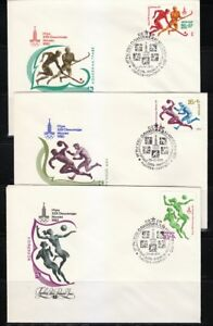 Russia-1979-set-of-5-FDC-covers-Moscow-80-Olympic-Games-Ball-games-Sc-B91-B95
