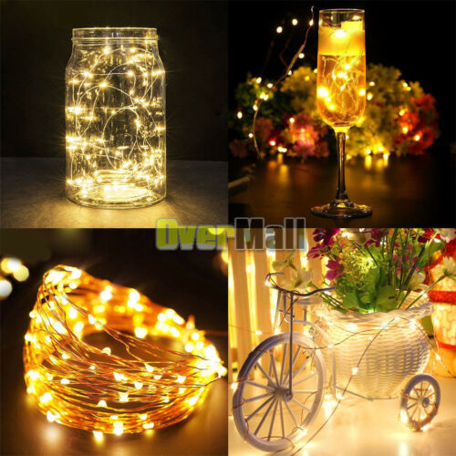 Lot 20 LED Fairy String Lights Starry Rope Copper Wire Lights Battery Operated