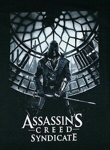 ASSASSIN-039-S-CREED-Syndicate-ED-Kenway-PS4-XBOX-1-Windows-Video-GAME-NEW-T-Shirt