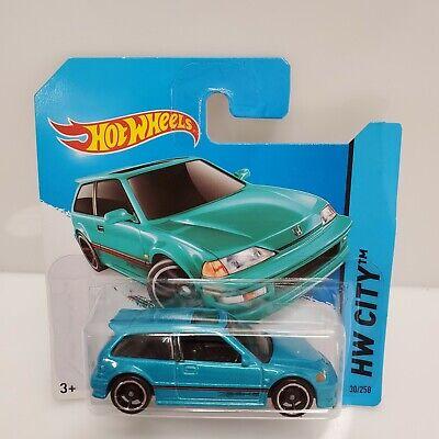 Hot Wheels HW City 1990 Honda Civic EF Teal Blue Short ...