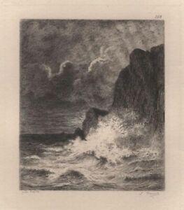 Jules-Dupre-Marine-Vague-battant-une-falaise-Eau-Forte-Massard-XIXe
