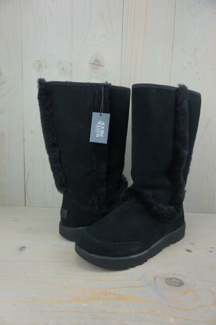 15622feab4e UGG Sundance Waterproof 1017511 Black Shearling Trim Womens BOOTS US 11