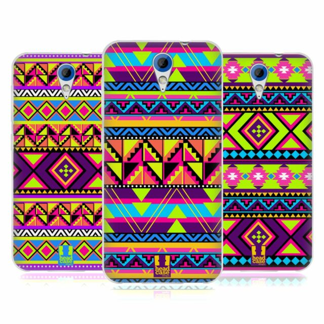 HEAD CASE NEON AZTEC SILICONE GEL CASE FOR HTC DESIRE 620