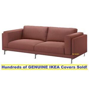 Ikea Nockeby Three 3 Seat Sofa 99 Cover Slipcover Tallmyra Rust