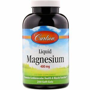 Carlson-Labs-Liquid-Magnesium-400-mg-250-Soft-Gels-Casein-Free-Gluten-Free