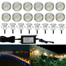 20Pcs Warm White 12V 32mm Outdoor Garden Yard Path LED Deck Stair Soffit Lights