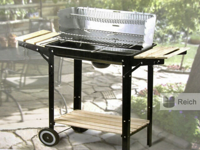 Barbecue à charbon de bois Barbecue-gril Grille Surface la 48 x 26 cm