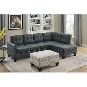 Red Barrel Studio Danico 98 Wide Right Hand Facing Corner Sectional with Ottoman Canada Preview