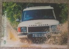 LAND ROVER DRIVING EXPERIENCE LEAFLET / APPLICATION FORM