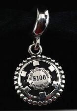 New Authentic Pandora Las Vegas High Roller Poker Chip Exclusive Bead Charm