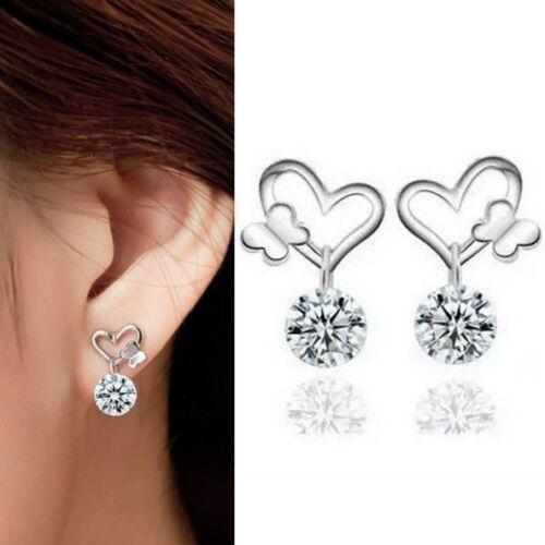 Ohrstecker Ohrringe Ohrhänger 925 Silber plattiert Zirkon NEU