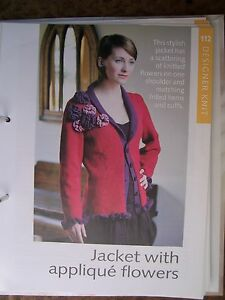 Jacket with Applique Flowers Pattern from Art of Knitting Magazine - <span itemprop='availableAtOrFrom'>London, United Kingdom</span> - Jacket with Applique Flowers Pattern from Art of Knitting Magazine - London, United Kingdom