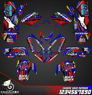 Polaris Predator 500 graphics racing decal sticker kit NO3333 Red