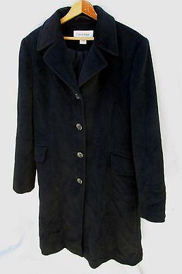 Calvin Klein Angora Wool Blend Luxury Winter Coat Womens 6