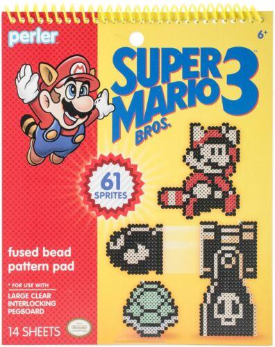 Perler Super Mario Bros 3 3 Fused Bead Pattern Pad-Super Mario Bros