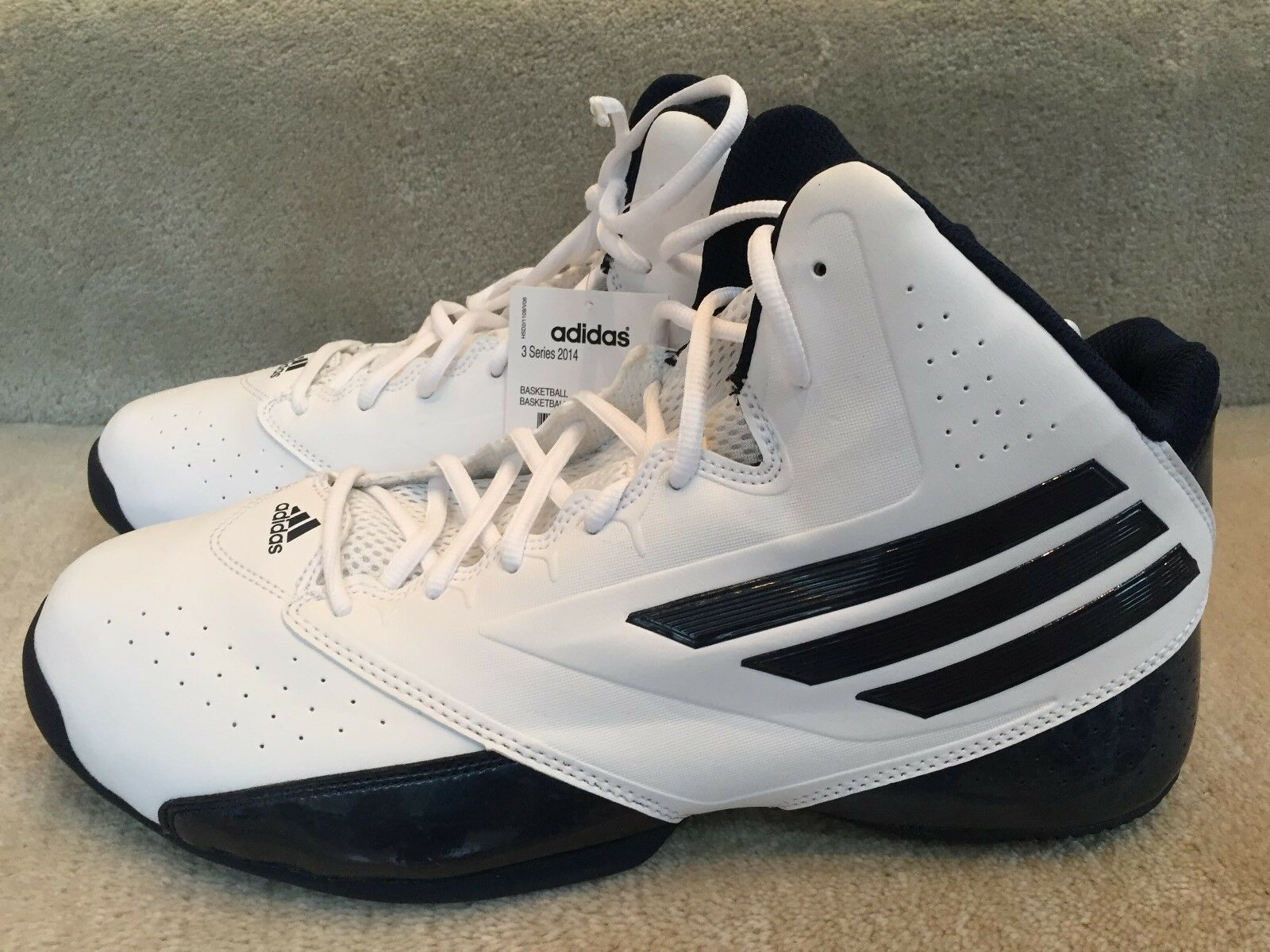 ADIDAS 3 SERIES 2014 WHITE BLACK SIZE 12 NEW WITH BOX