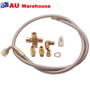36-034-Braided-SS304-Turbo-Charge-1-8-NPT-Fitting-Oil-Feed-Line-For-T3-T4-T70