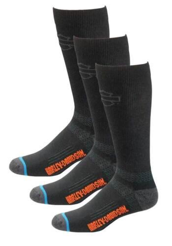 3 Pairs Harley-Davidson Men/'s Comfort Cruiser Wicking Riding Socks D99203170